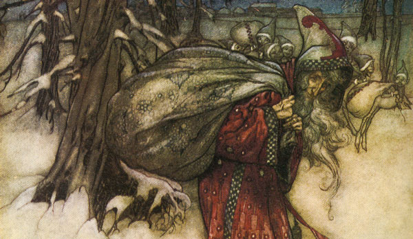 Arthur Rackham's interpretation of Santa Claus