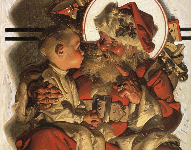J.C. Leyendecker's interpretation of Santa Claus