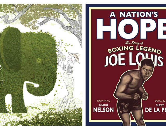 Book covers for Grandpa green and A Nation's Hope
