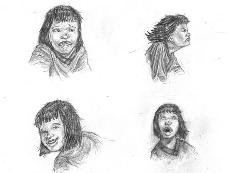Character expressions of the hero in the Magic Paintbrush