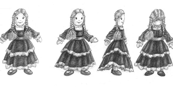Character sketches of Rag Doll